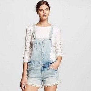 Mossimo Overall Shorts w/lace